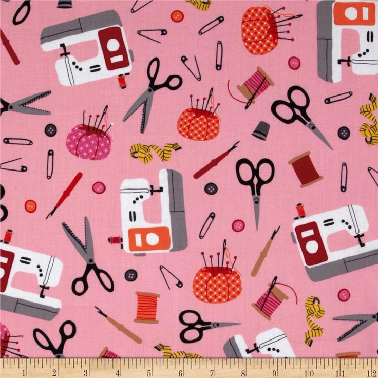 Sew Party Sewing Collage Blush