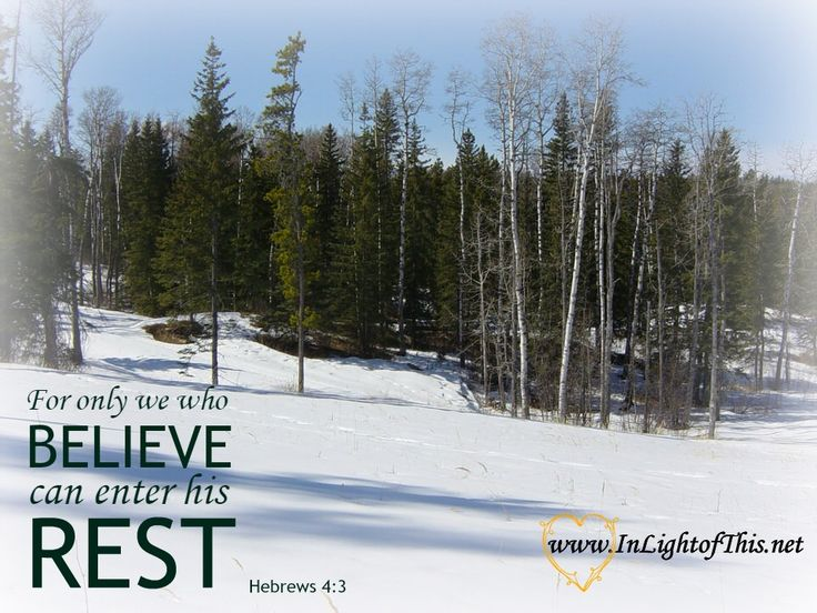 """Only in pulling away from the seductive glitter of the season and entering the """"Rest"""" of God can we find strength, peace, comfort and salvation."""