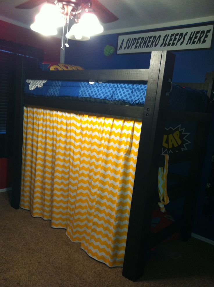 Luke S Loft Bed Luke S Superhero Bedroom Pinterest