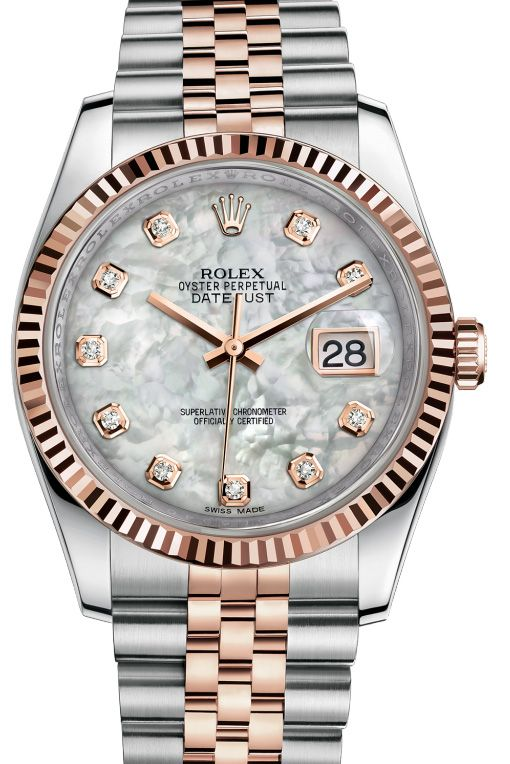 a06212b08557 116231 White mother-of-pearl set with diamonds JB, Rolex in 2019   Rolex    Pinterest   Гламур