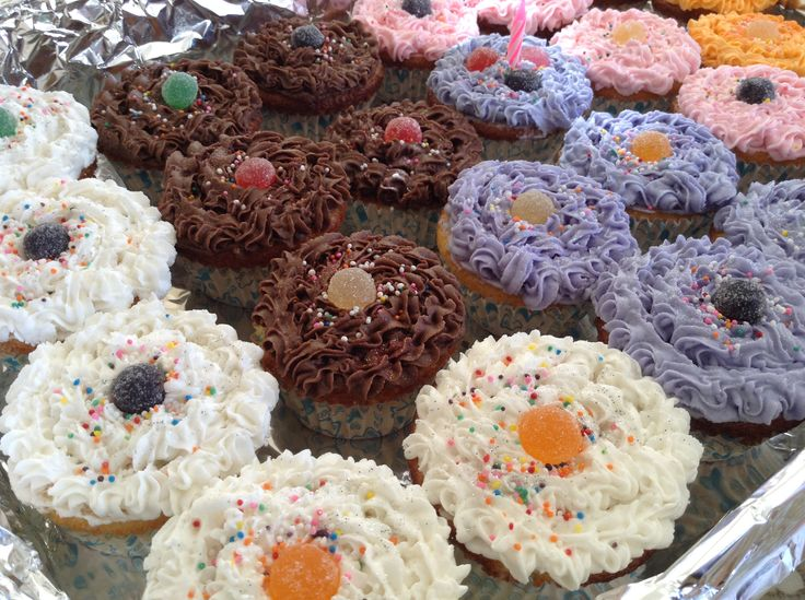 Cup cakes for every occasion.  My little girl wanted these colour cup cakes....  She loved her party at pre-school :)