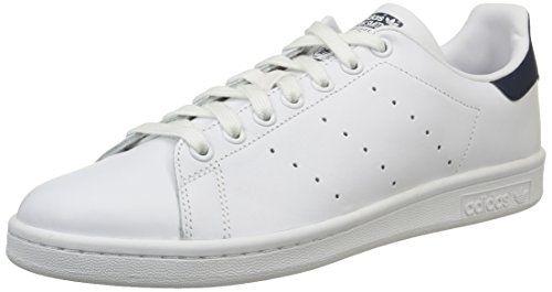 adidas Sneakers Basses Homme - Blanc - Weiß/Mehrfarbig, 44 2/3 EU