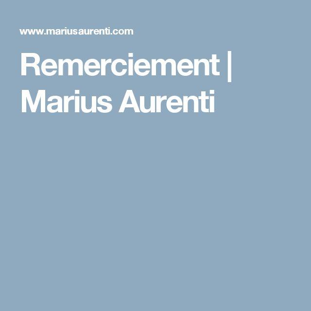 Remerciement   Marius Aurenti