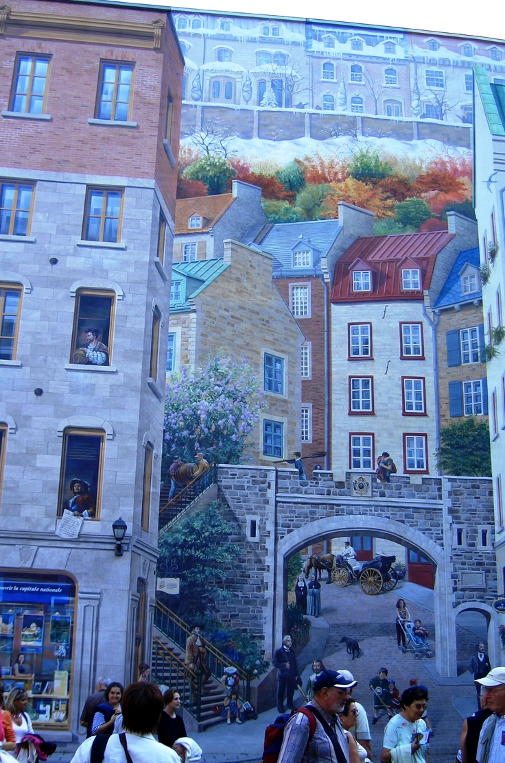 Quebec. Not sure, but I think part of the background is a mural... this is lower town..