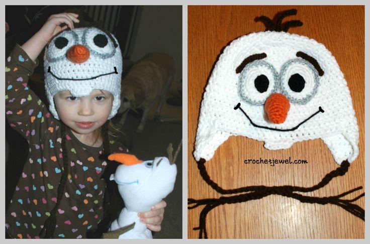 Olaf inspired hat pattern, http://crochetjewel.com/?p=13085