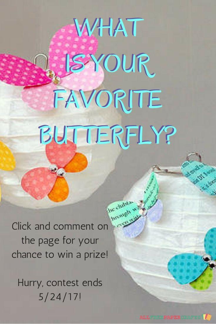 Scrapbook paper craft ideas - Pretty Paper Butterflies 20 Butterfly Crafts
