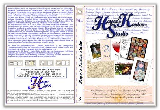 DVD-Hüllen gestalten und drucken mit Heyer´s Video-Cover. Kostenlose Testversion unter http://www.heyer.de/downloads/HeyVideoCover4.exe