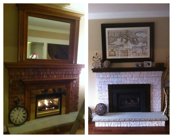 Fireplace makeover easy way to update your fireplace for for Three way fireplace