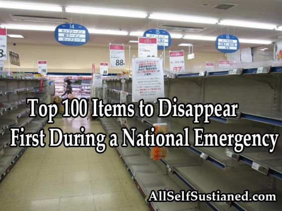 The Top 101 Items to Disappear First During a National Emergency