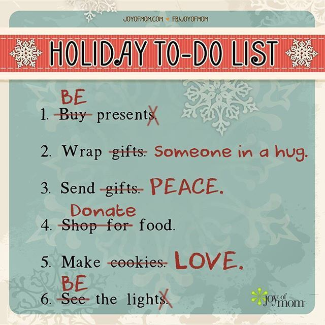 Kuvahaun tulos haulle holiday to do list: be present (buy present)