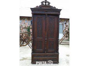 Obiecte de arta, Vanzari, cumparari, Dulap din lemn de cires sculptat la 1880-1900, imaginea 1 din 7