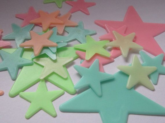 Glow In The Dark Stars. I remember when I had a lot of them...might still have one or two.