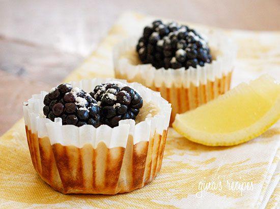 Lemon Cheesecake Yogurt Cups - Lemony cheesecake cups made with Greek yogurt topped with fresh berries. Light, creamy and virtually guilt-free!