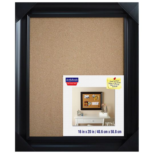 black framed cork board by artminds