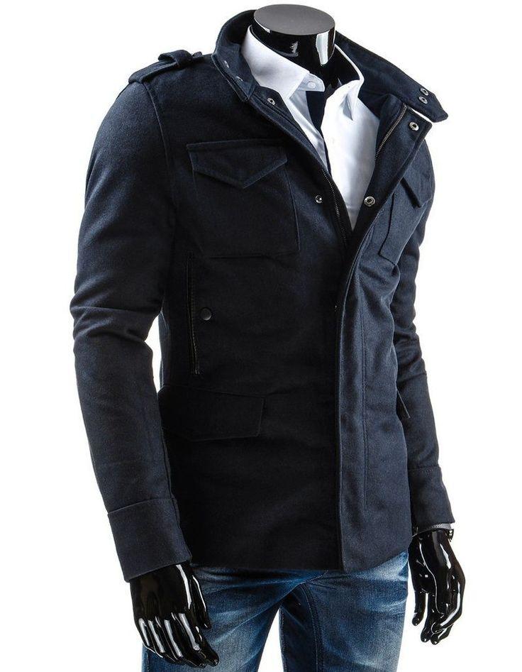 Granatowy płaszcz idealny na jesień i zimę. Ocieplany, zapinany na zamek zasonięty listwą, pikowana podszewka http://dstreet.pl/product-pol-3696-Plaszcz-cx0243-.html  #płaszcz #jesień #dstreet