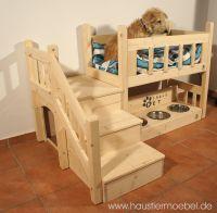 Hochbett für Hunde, Hochbett für Katzen, Hochbett für Tiere, Tierhochbett, Hundehochbett, Katzenhochbett, Hochbett mit Treppe, Haustiermöbel, Hundebett, Katzenbett