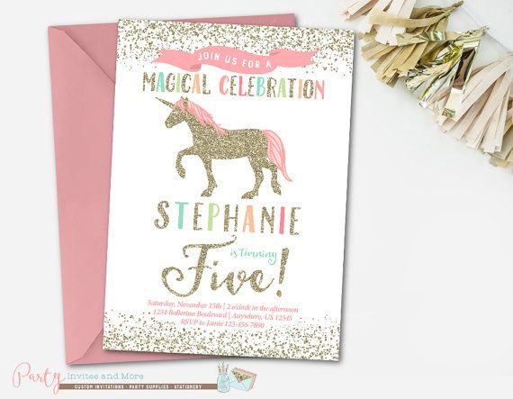 33 best unicorn birthday party images on Pinterest Unicorn party - fresh invitation birthday simple