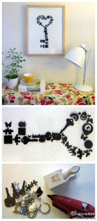 If you have too many useless keys at home- big or small here is great solution to use them. :)