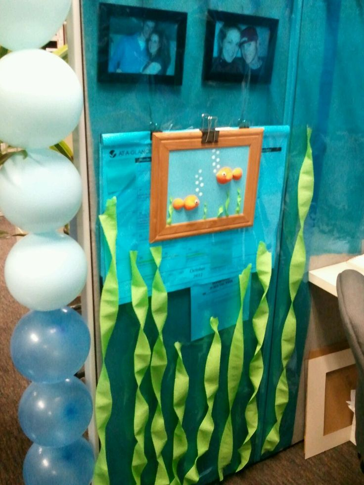 21 best cubicle decorations images on pinterest cubicle for Sea themed decorating ideas