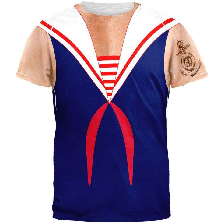 Halloween Sailor Man Costume All Over Adult T-Shirt