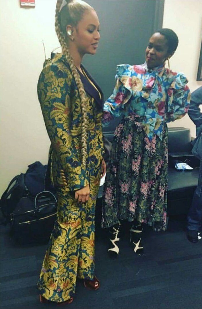 Beyonce with Ms Lauryn Hill at TIDAL X 1015