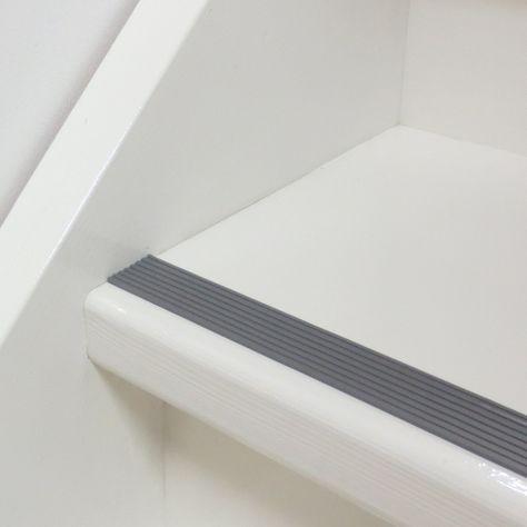 Wit met grijs blijft een mooie klassieke combinatie voor de antisliprubber tape, vind je niet?!