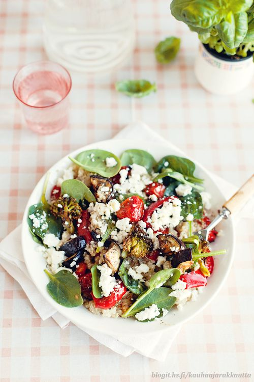 freshFruit Salad, Feta Salad, Salad Fresh Fruit, Summer Salad, Quinoa Salad, Delicious Salad, Cherries Tomatoes, Veggies Salad, Saladfresh Fruit