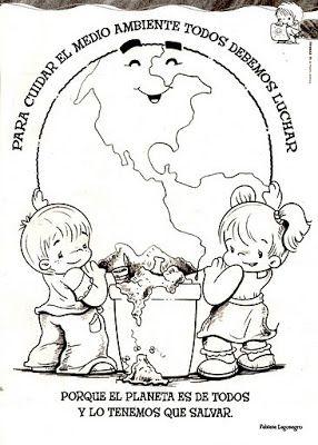 Imagenes Para Colorear Sobre El Cuidado Del Ambiente Medio Ambiente Para Colorear Dia Mundial Del Medio Ambiente Medio Ambiente Dibujo