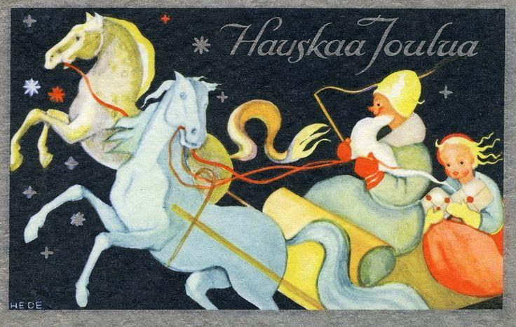 Hauskaa Joulua! #hevonen #reki #Christmascards
