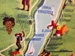 Balaton vintage map
