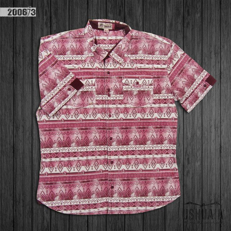 camisa-hombre-manga-corta-color-vino-200673