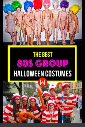 Looking for the best 80s costume for you and your crew! From Rainbow Brite, Goonies, Ghostbusters, Beetlejuice, the best 80s group costumes. 80s squad costumes. Costumes for your squad!