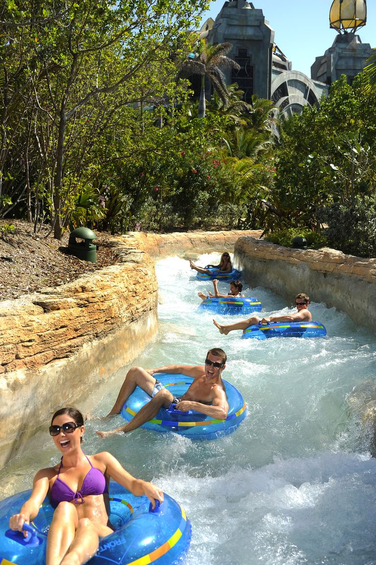 Ride the Lazy River and the Rapids at Atlantis' 141-Acre Waterpark Aquaventure and Never Leave Your Tube