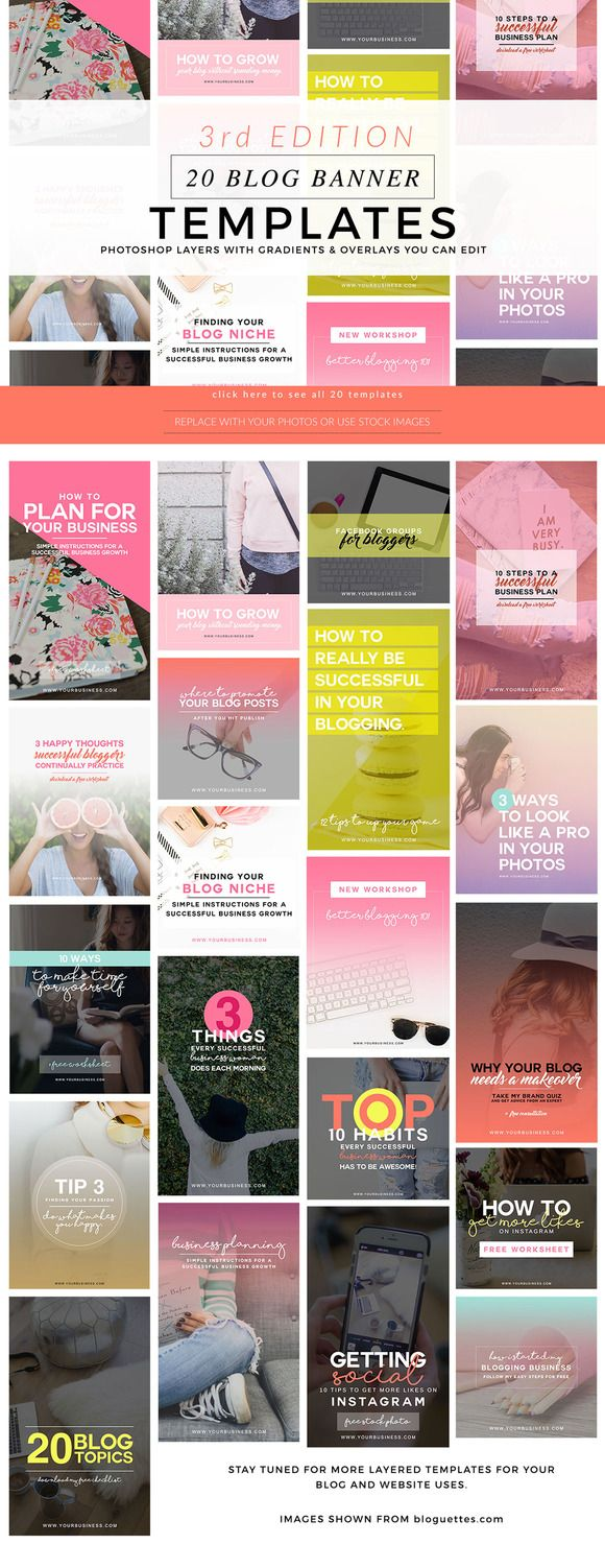 Blog Featured Graphics 3rd Edition by Holly McCaig Creative on Creative Market