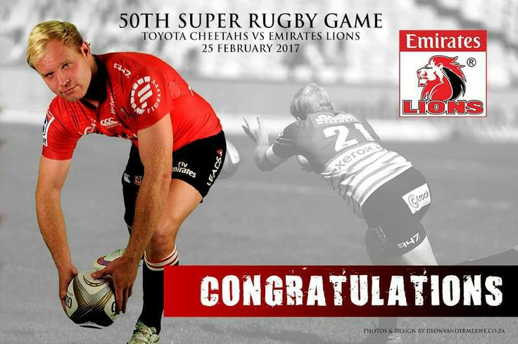 Congratulations to Ross Cronje who also played his 50th Super Rugby Game on Saturday! #LeyaTheLion #Lions4Life #BeThere #50th #SuperRugby #MyLionsMoment