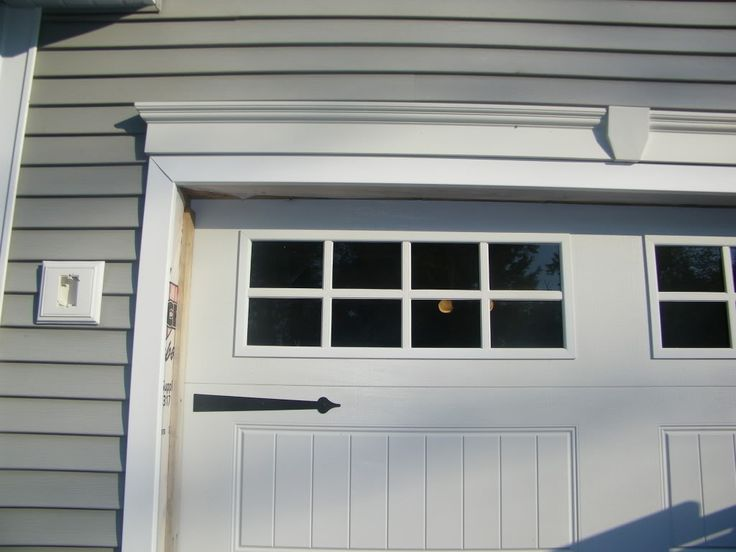 moulding for garage door photos | ... Vinyl Lineals for Exterior Garage Door Trim - The Garage Journal Board