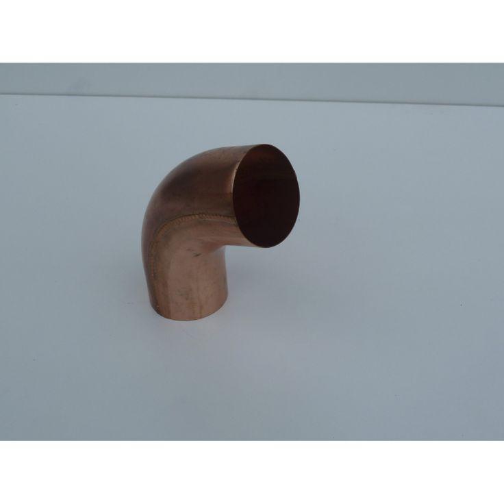 Coude en cuivre, diam. 100mm, pour gouttière galva développé 33cm, SCOVER PLUS omas VASE