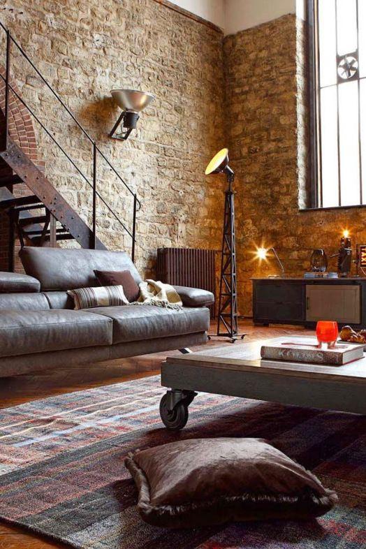 20 ideas de decoración de salas rústicas en fotos