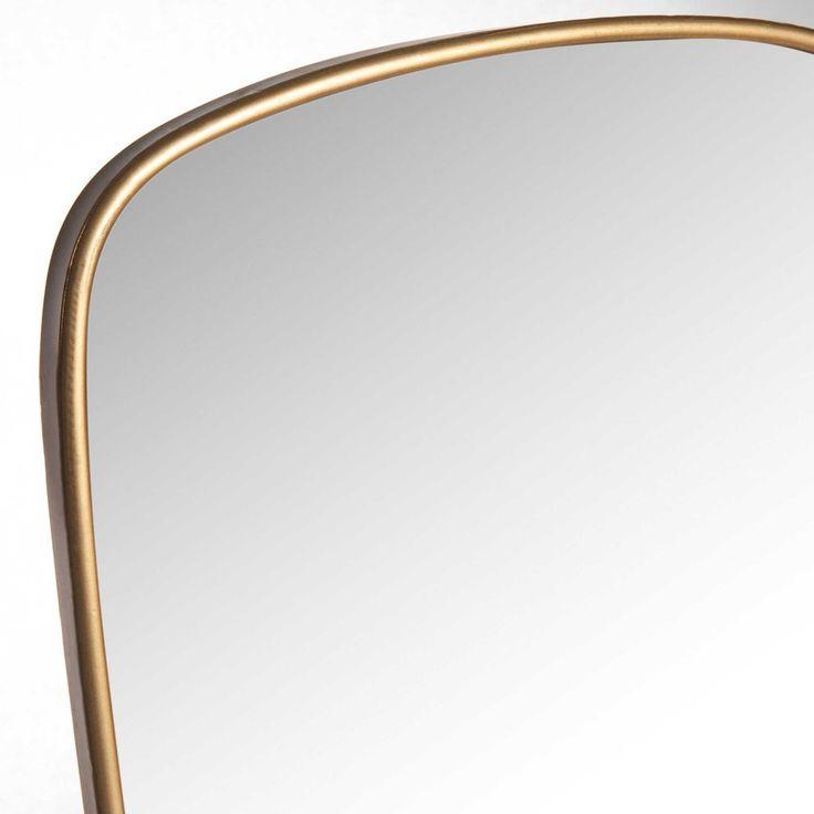 Espejo de metal dorado 40x70 cm | Maisons du Monde