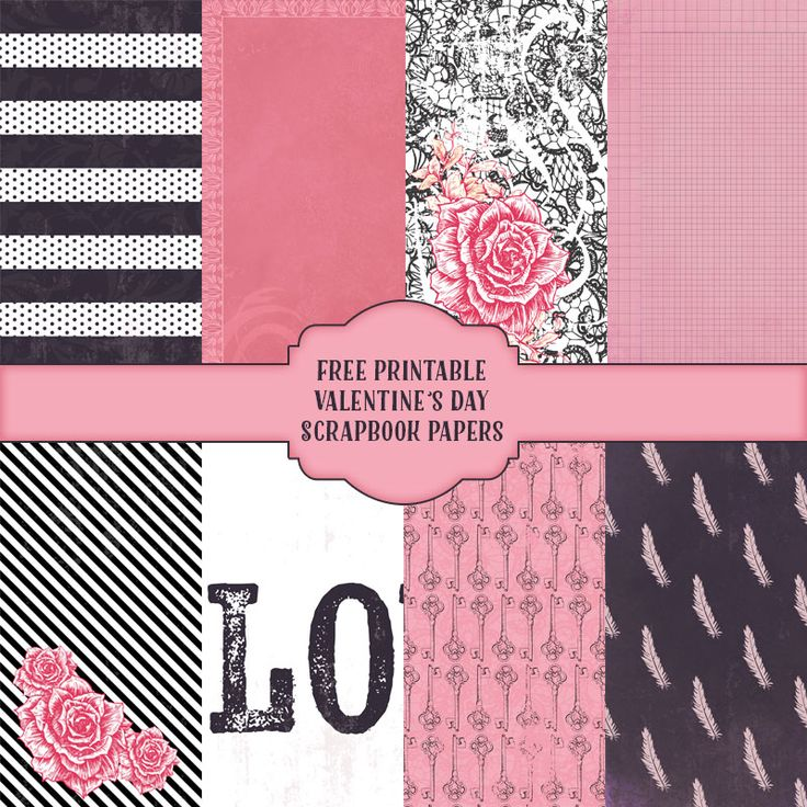 Use this free printable Valentines day scrapbook paper today with your scrapbooking layouts or your Valentine's Day cards.