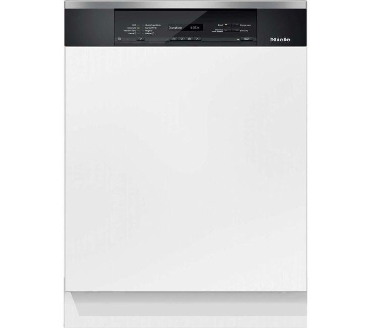 Miele G6825SCi XXL Semi-integrated dishwasher XXL with A clean steel Type of appliance Semi-integrated dishwasher 60 cm dishwasher XXL dishwasher