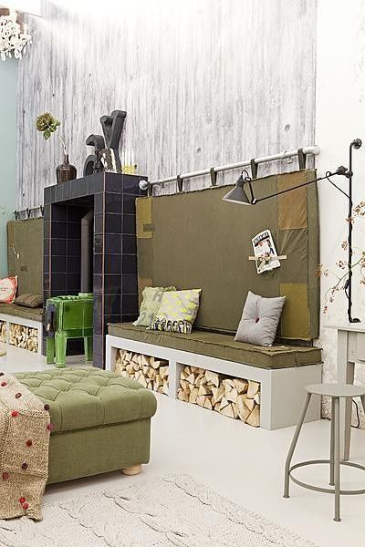 fire place wood storage