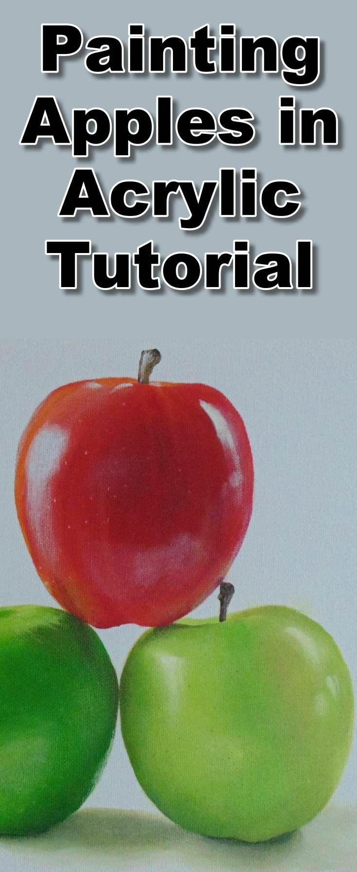 Learn how to paint realistic apples with this acrylic painting class