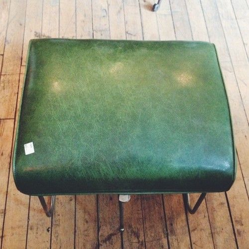 65$ this retro foot stool adjusts its angle for your comfort