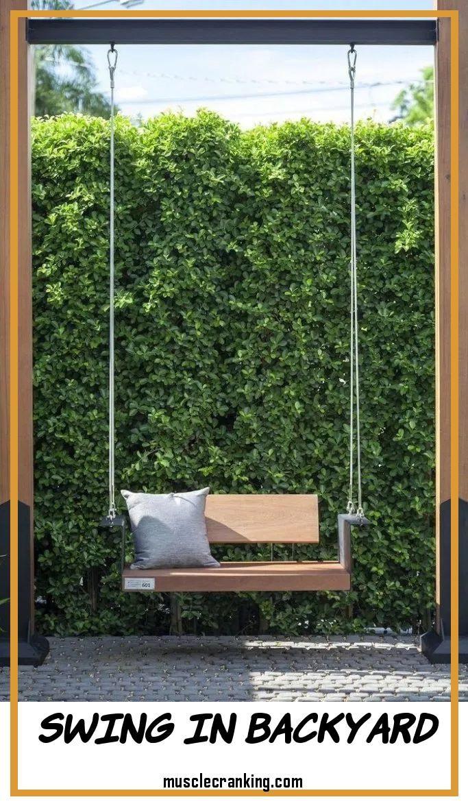 Swing In Backyard 2021 In 2020 Garden Swing Seat Garden Swing Backyard Landscaping Designs