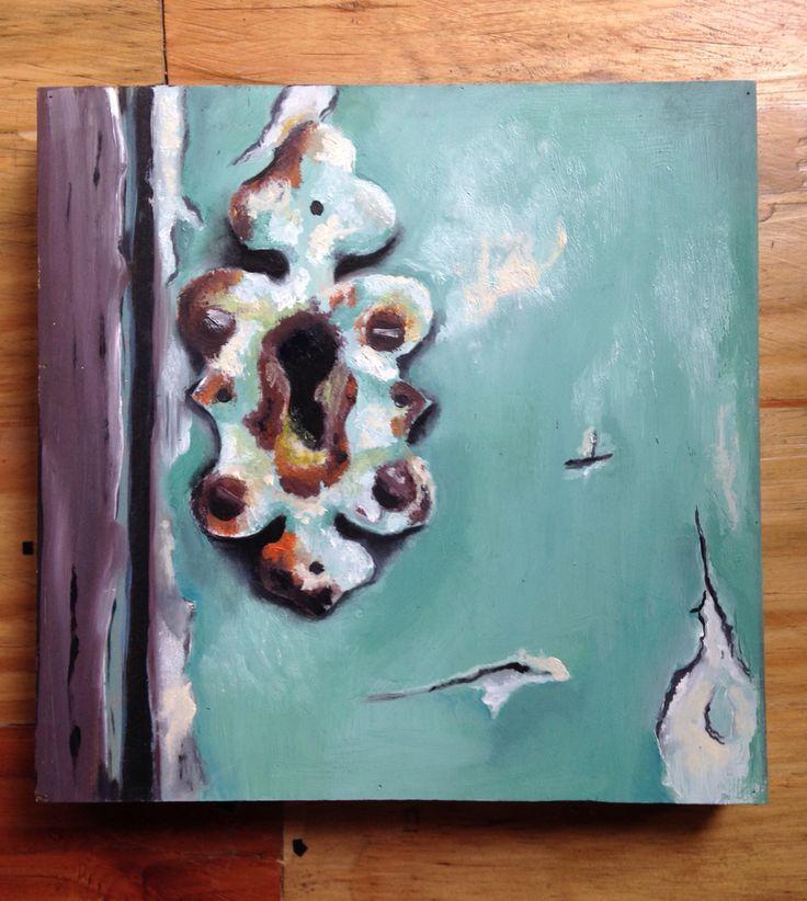 Keyhole Oil on canvas