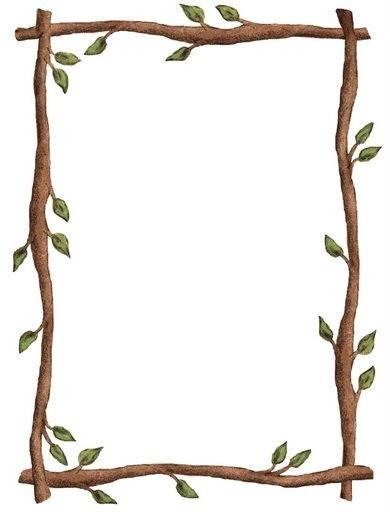 Resultado de imagen de plantilla hoja con cenefa de animales de la selva