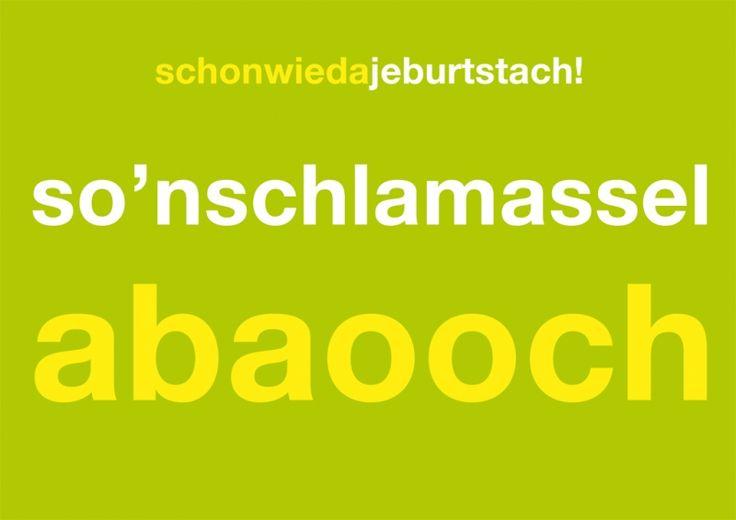Postkarte: schonwiedageburtstach! so'nschlamasselabaooch