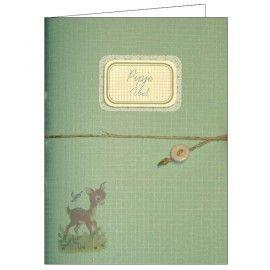 Notebook groen geboortekaartje vintage retro nostalgie diary Zoetje Nozem