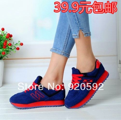 Lady Shoes 2014 spring and autumn new sports Shoes casual Shoes women brand from Ms. Flats Shoes free shipping $20